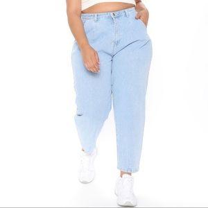 Fashion Nova Daydreaming High Rise Mom Jeans
